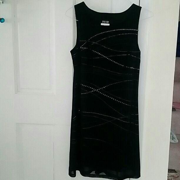 Byer Too Black Sequin Dress SZ L