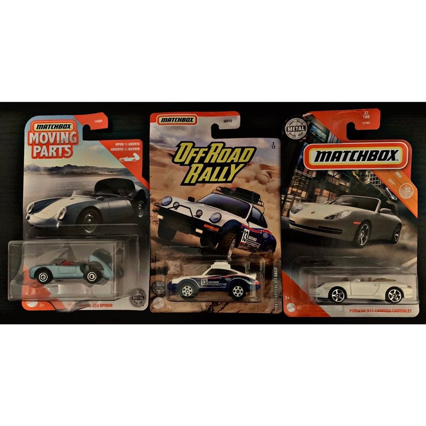 Matchbox Porsche Lot