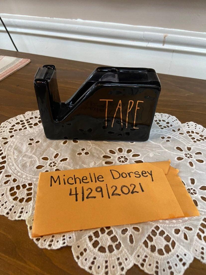 Rae Dunn Tape Dispenser Black