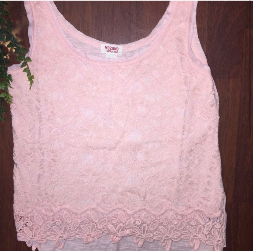Mossimo Light Pink Lace Tank