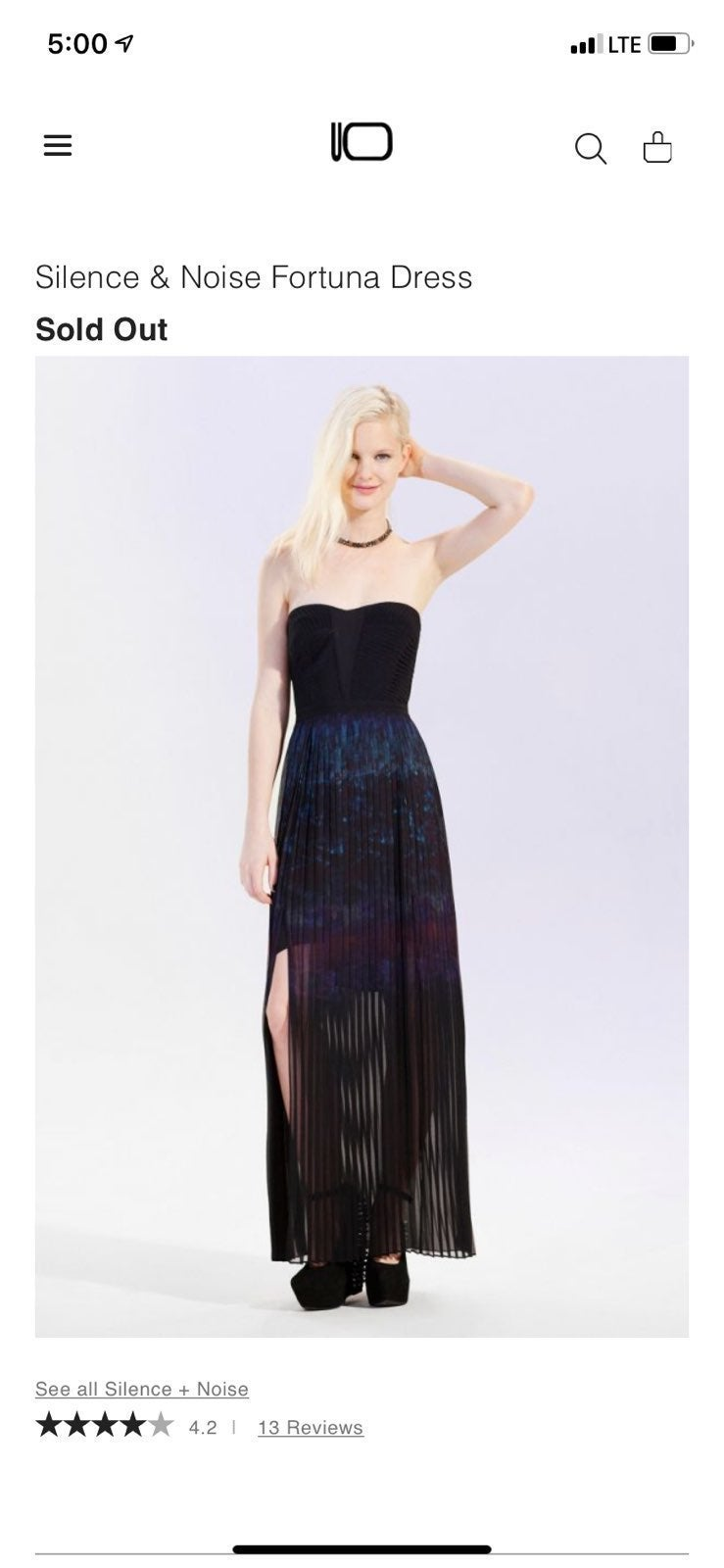 urban outfitters Silence And Noise Gown