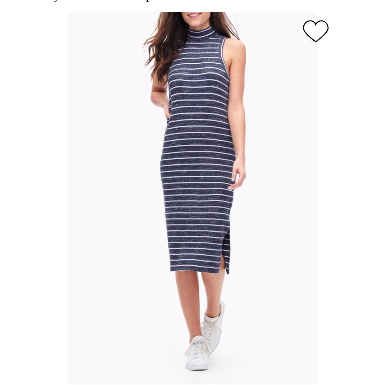 Splendid Striped Sleeveless Midi Dress