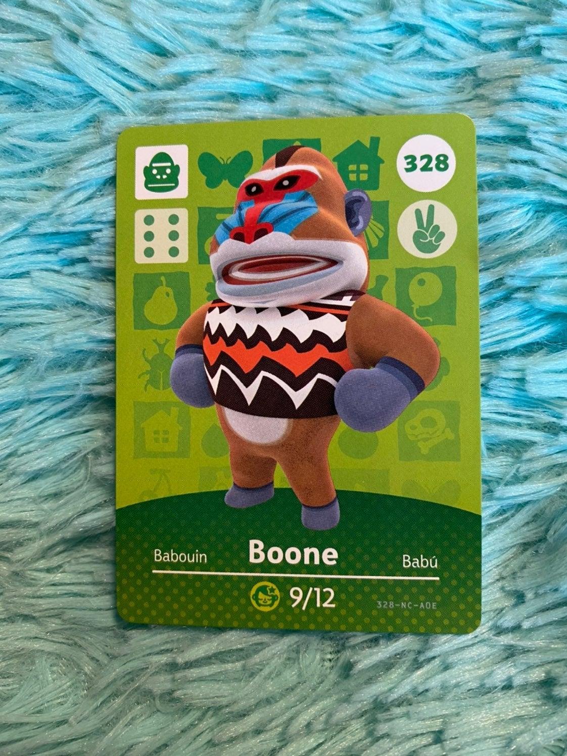Boone - Animal Crossing Amiibo Card