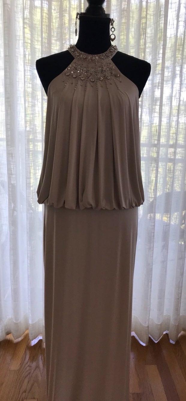 Mignon Cold Shoulder Blouson Gown Sz 4