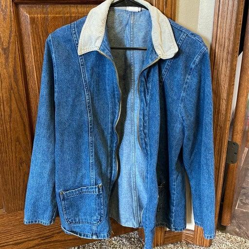 zipper jean jacket