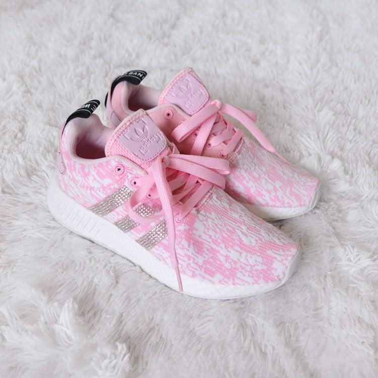 Adidas Pink Crystal Sneakers