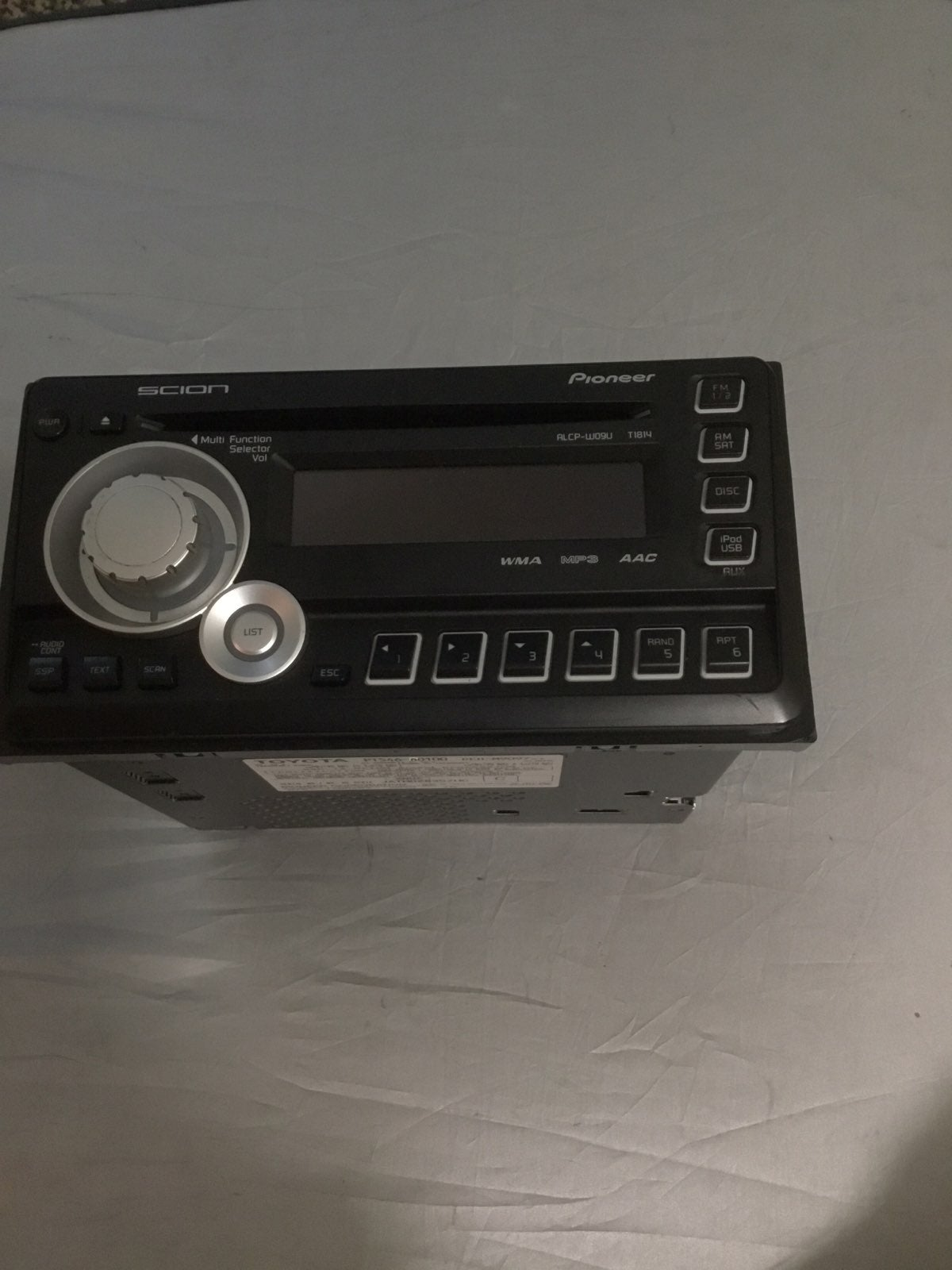 Car stereo toyota scion pioneer
