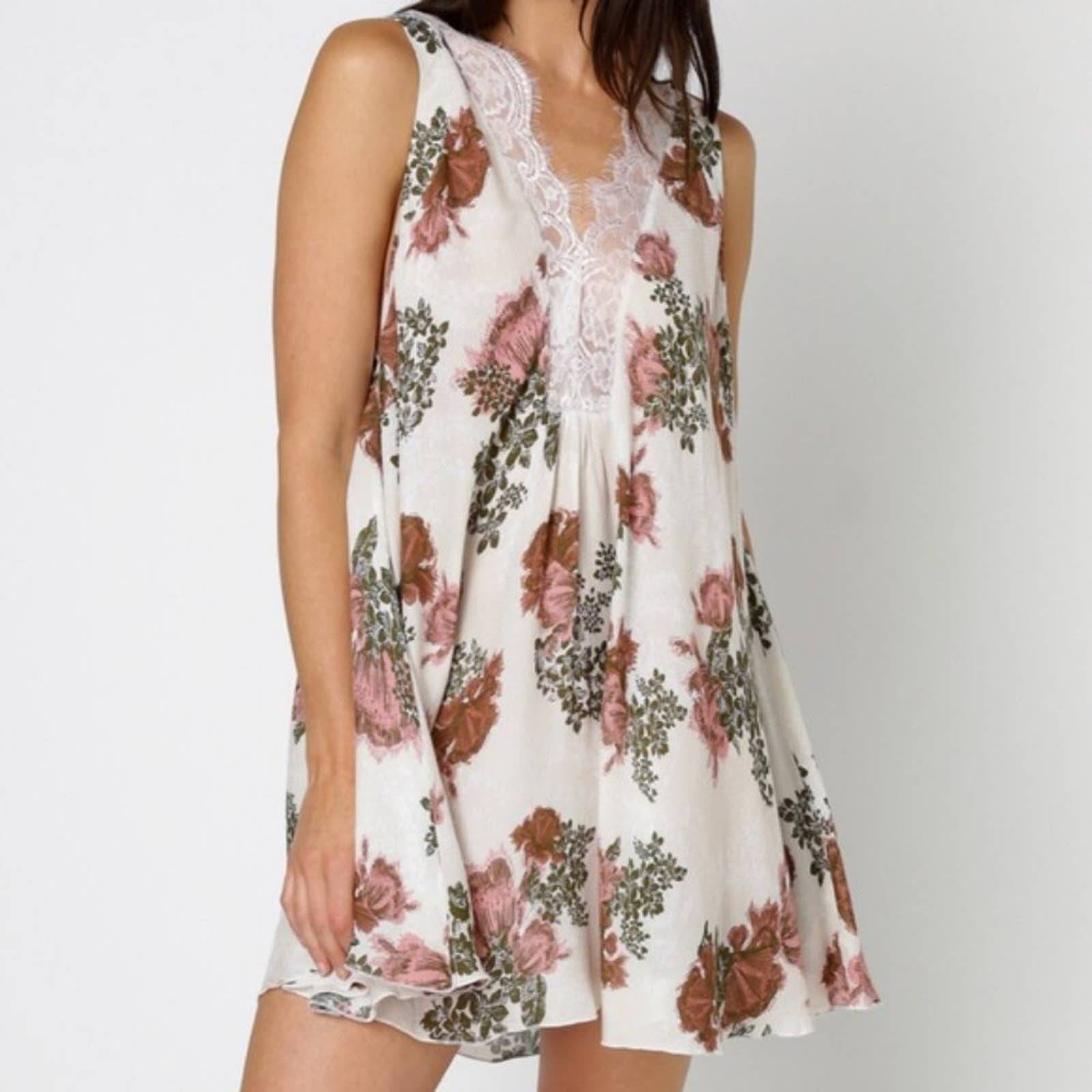 Free People Intimately Rose Flower Gown