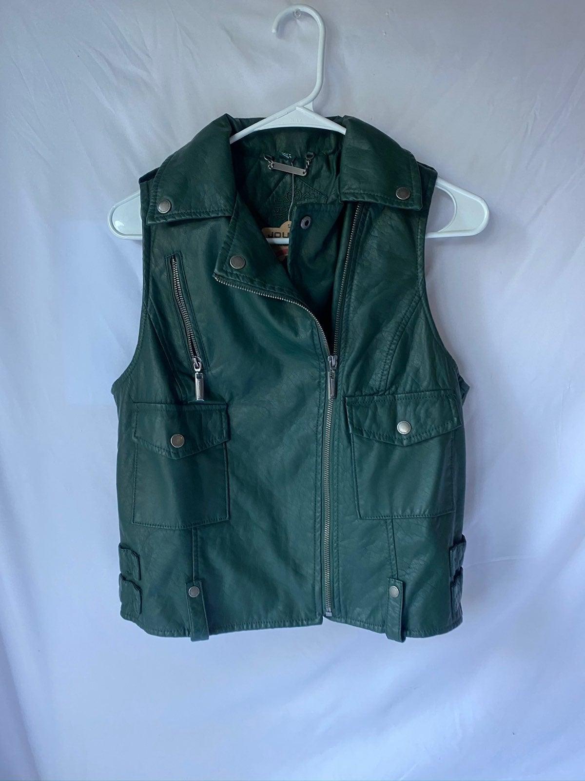 JOU JOU Women's Vegan Faux Leather Vest