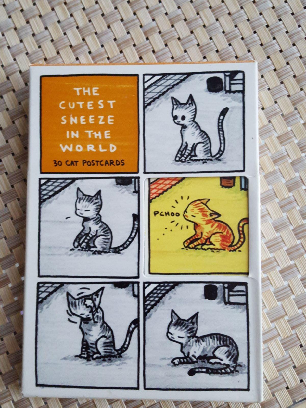 Box of vintage unused cat postcards