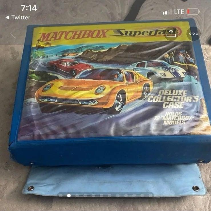 Matchbox toy car caze amd slides