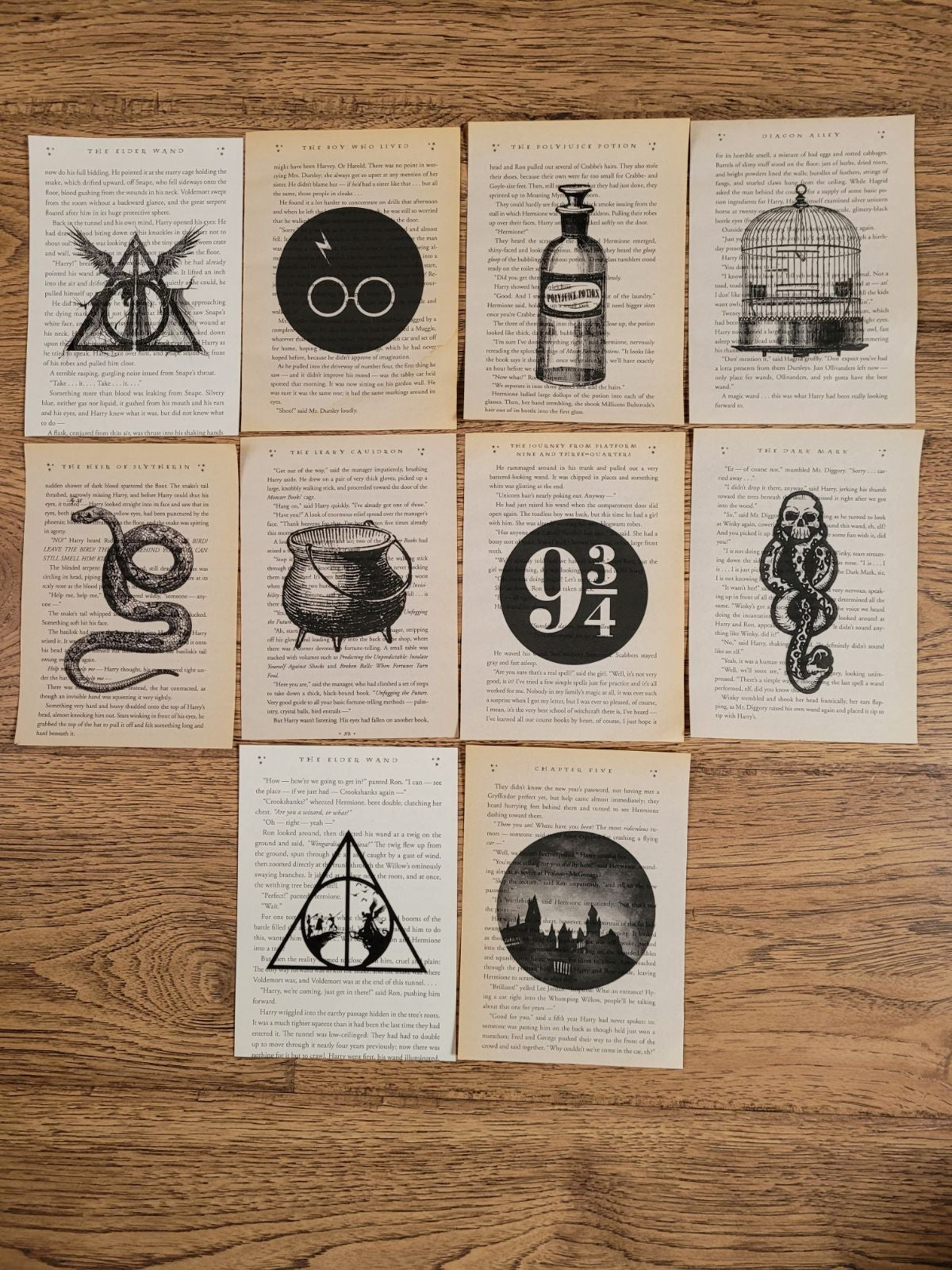 Harry Potter Book Page Prints