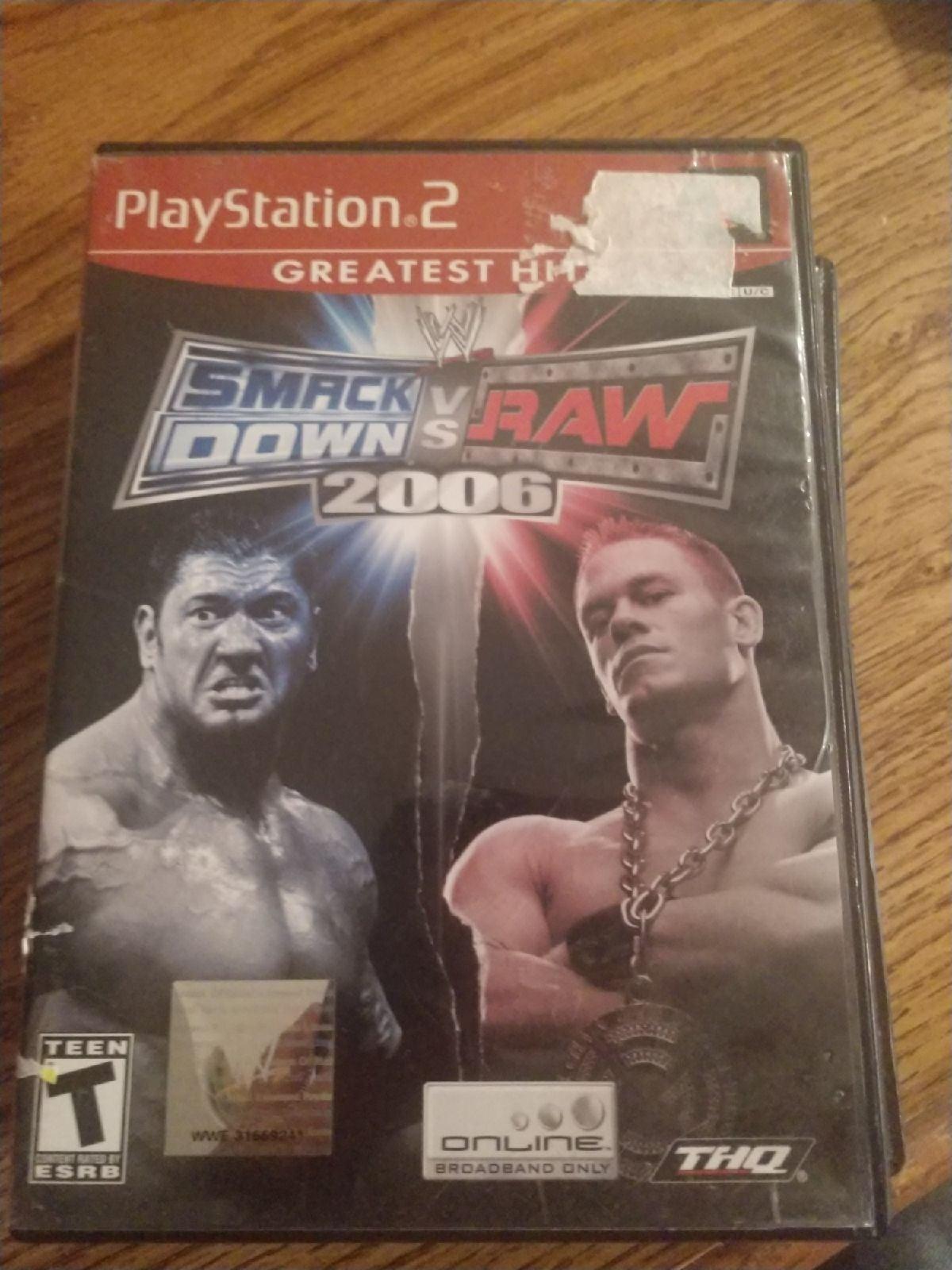 ps2 games WWE Wrestling Smack Down Vs Ra