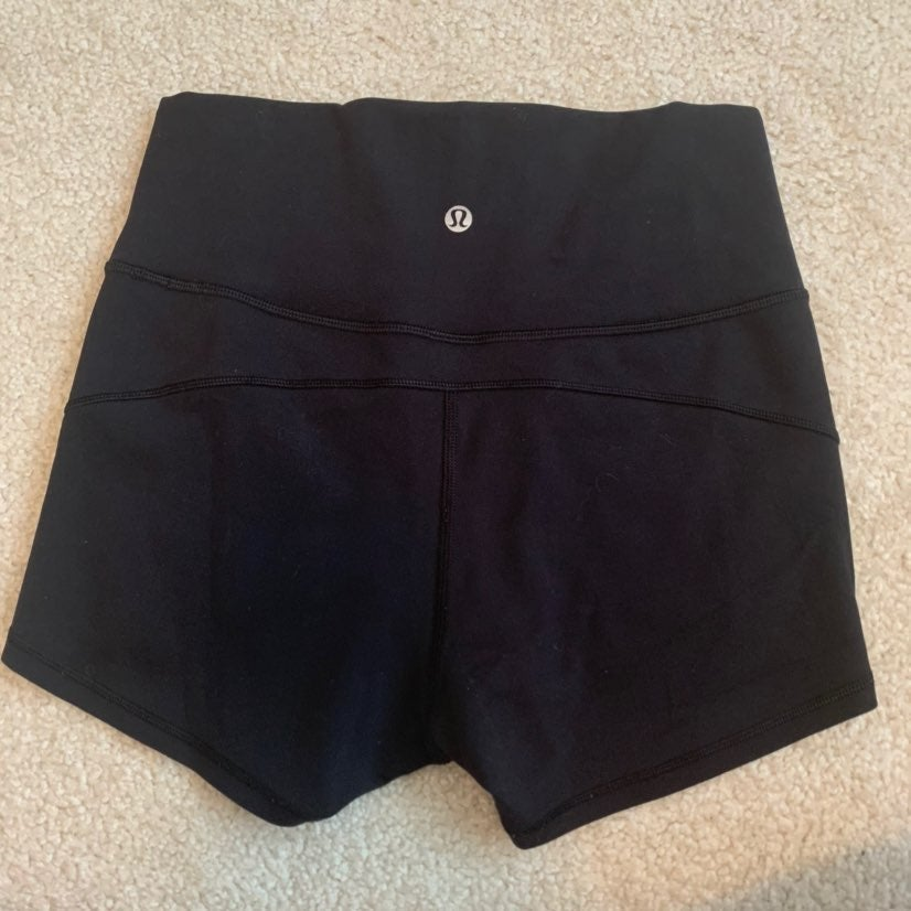 Black lululemon In Movement Shorts