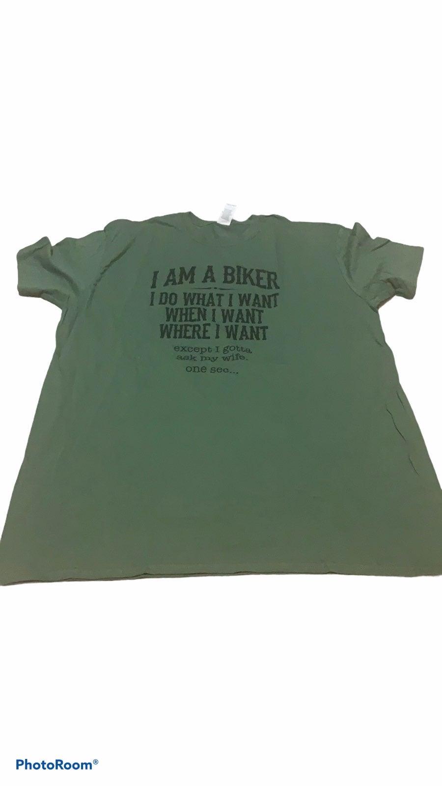 Men's Green Biker T-shirt- NWOT