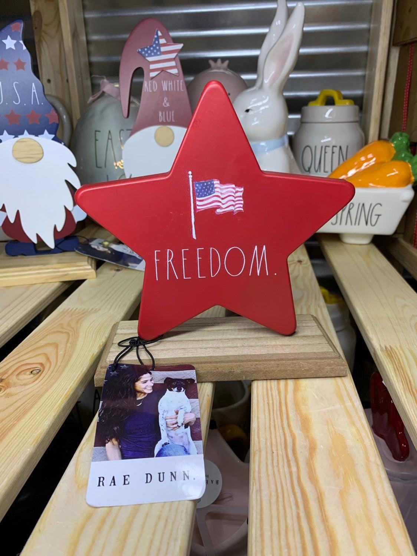 Rae Dunn Freedom Star Decor