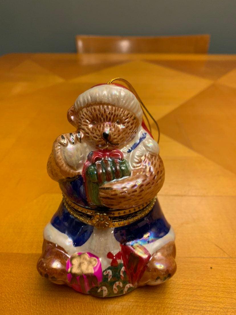 Mr Christmas music box teddy bear orname