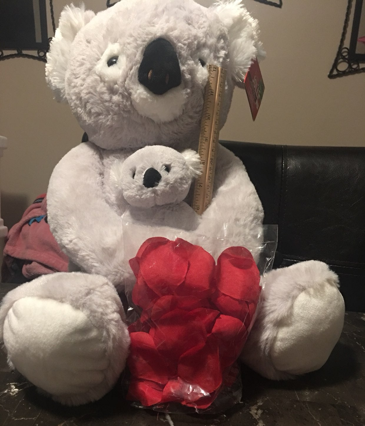 Koala and baby with roses