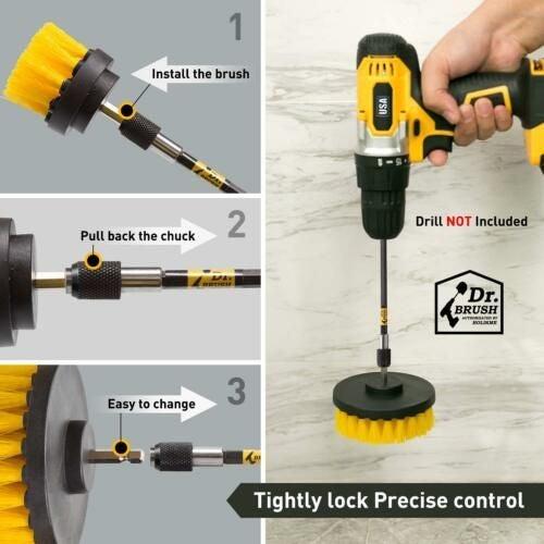 3-pc Power Scrubber Drill Attachment
