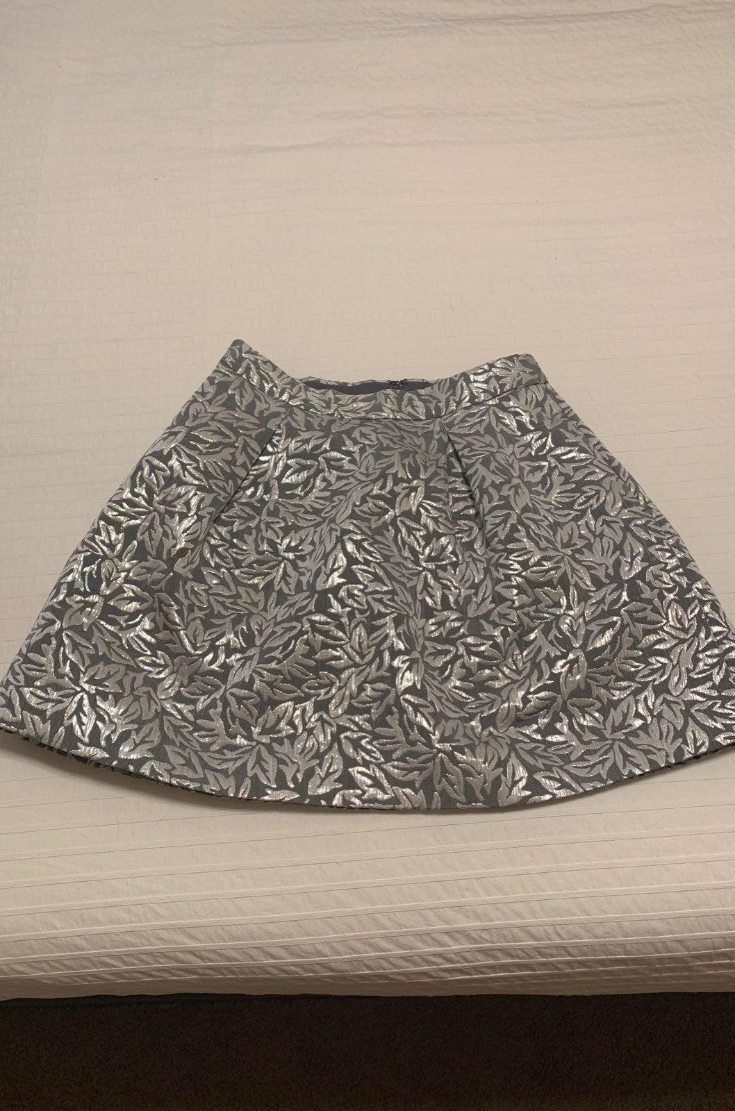 Behnaz Sarafpour Silver Skirt