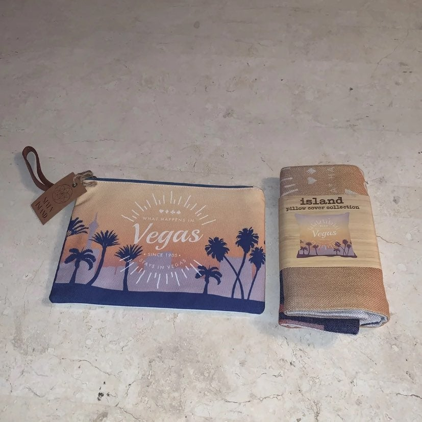 Las Vegas Clutch Bag & Pillow Cover NEW