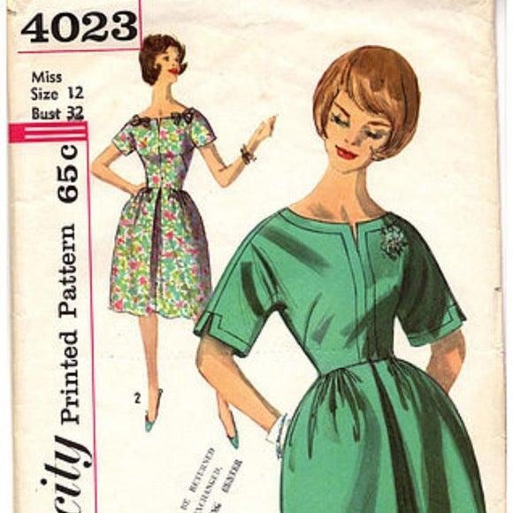 Vintage Simplicity pattern 4023 Dress