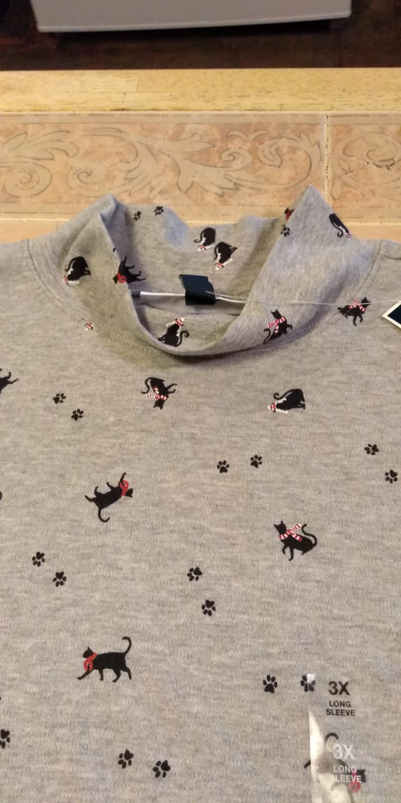 Women's Top Black Cat Collage Size 3x