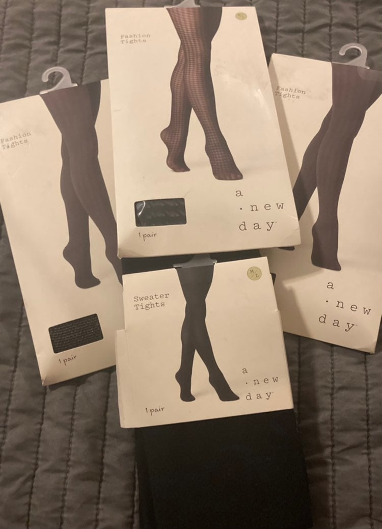 4 Pairs of A New Day Tights M/L