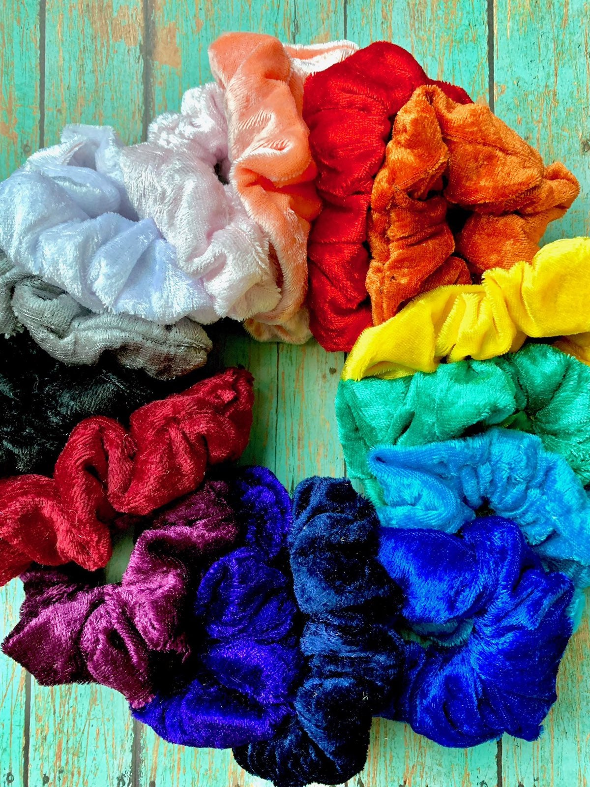 Velvet Scrunchies (Sets and Indivdual)