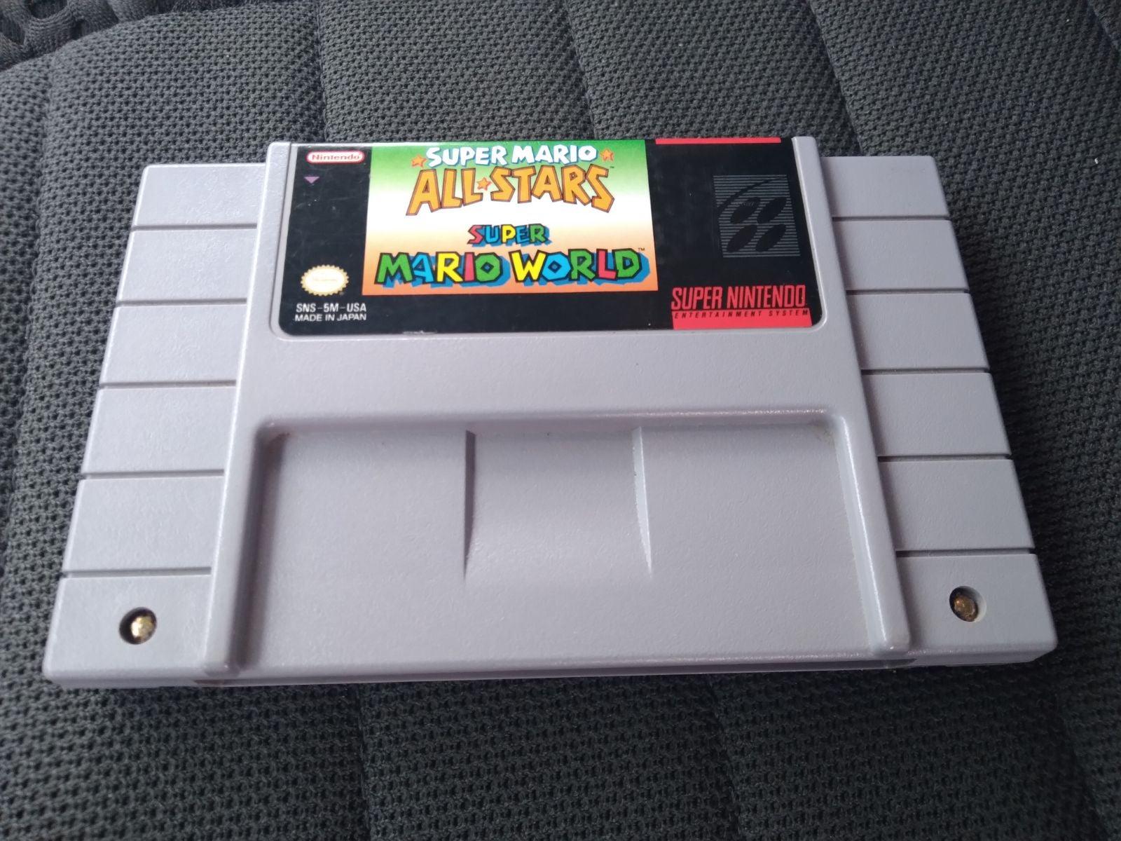 SNES Mario World & All Stars Combo