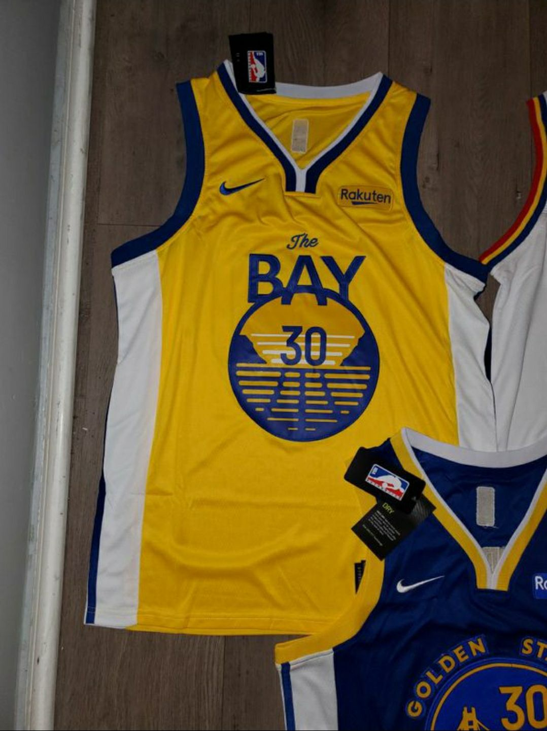 Gold State Warriors Curry Jersey