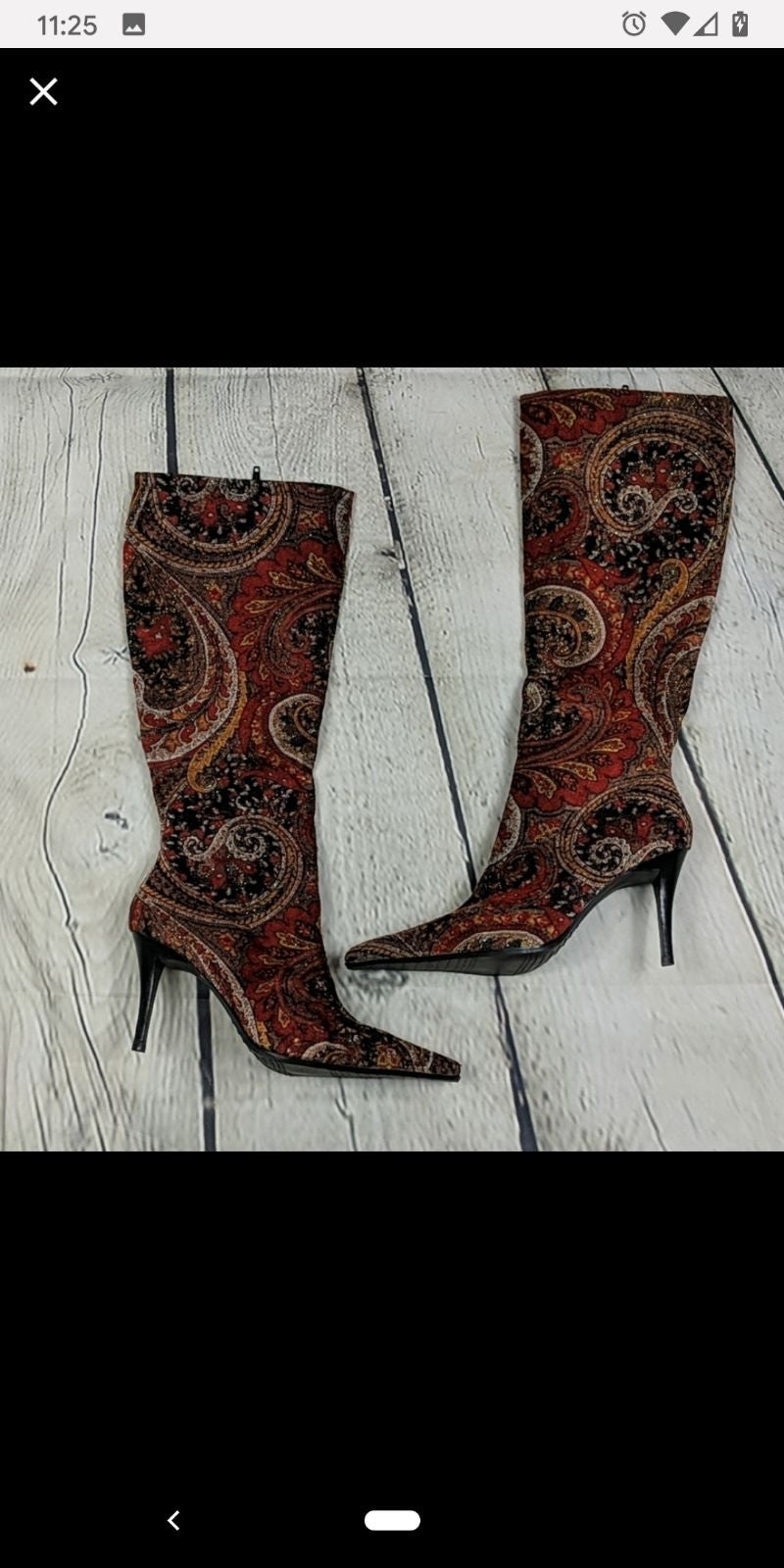 Bronx so today fabric knee high boots