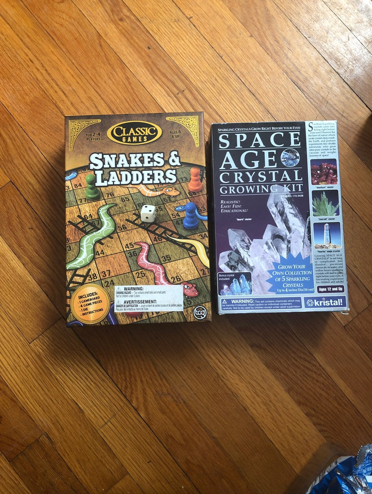Snakes and ladders and Crystal growing k