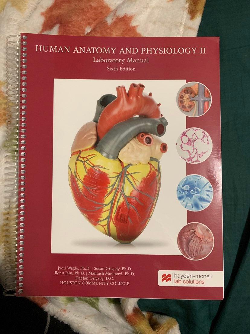 HCC A&P 2 Lab Manual 6th edition