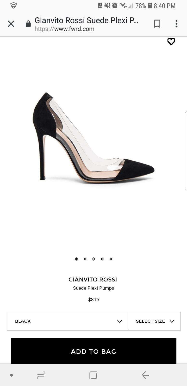Gianvito Rossi Plexi Pumps