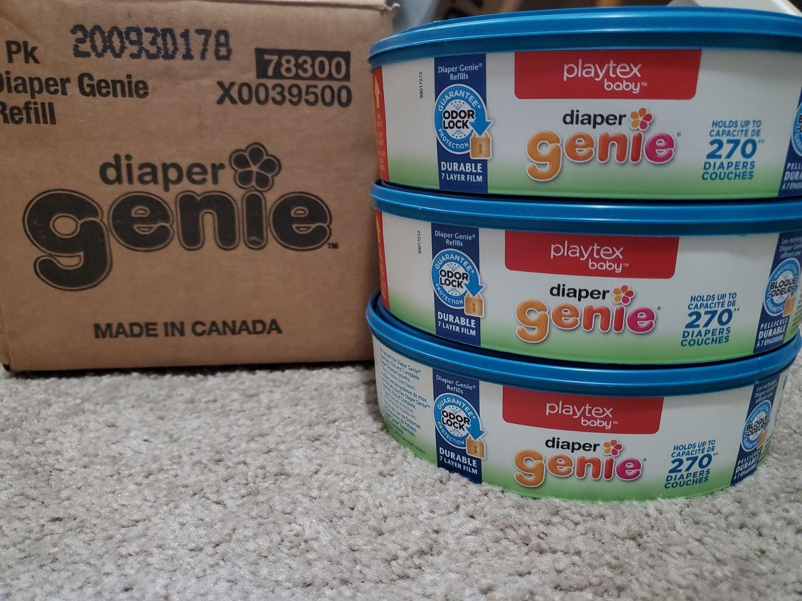 3 Diaper Genie Refills Playtex Baby