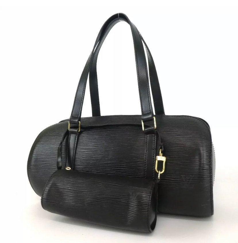 Louis Vuitton Soufflot Epi Black leather