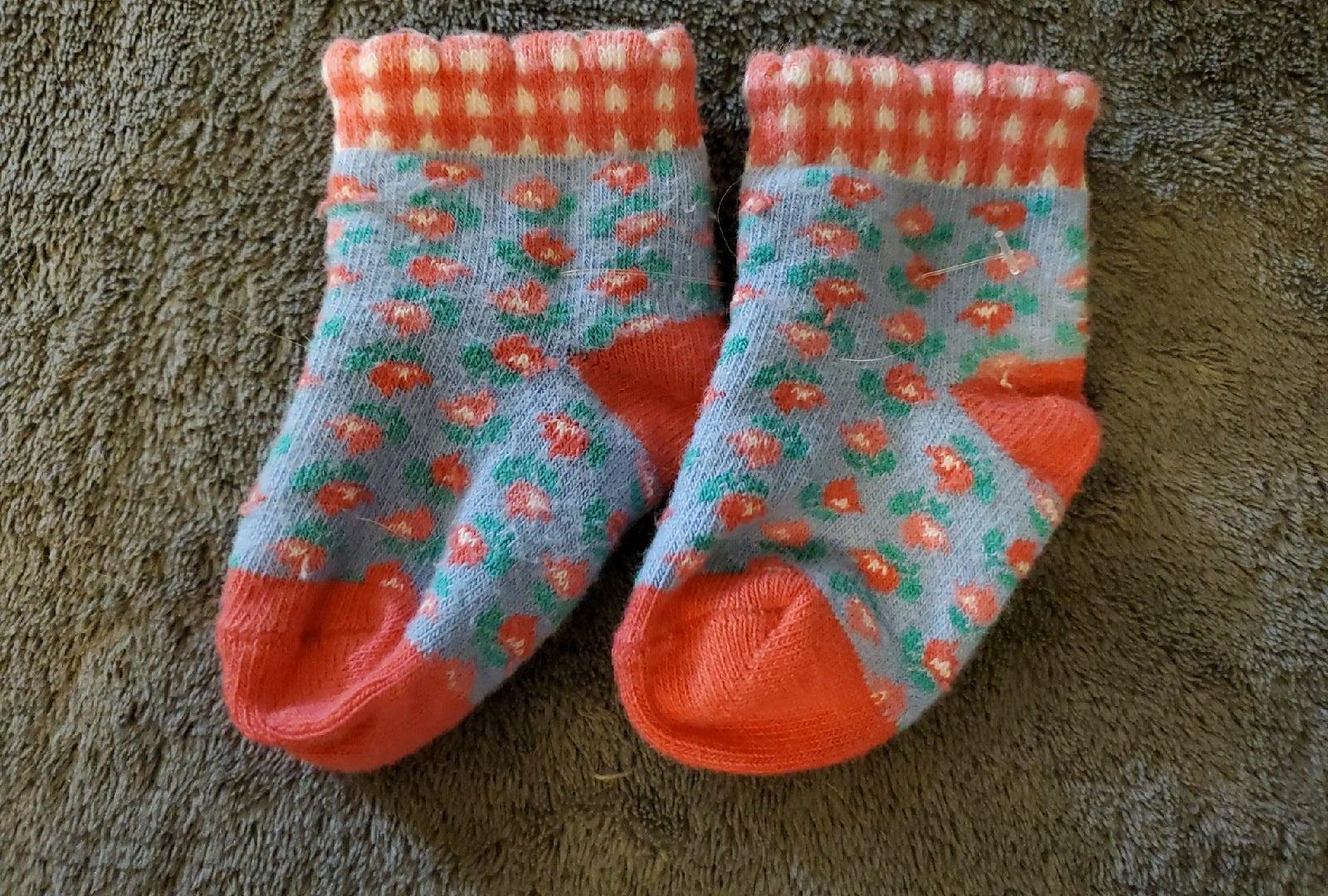 Vtg Gymboree Tiny Tulips Baby Socks