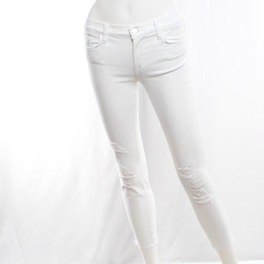 White distressed JBrand jeans