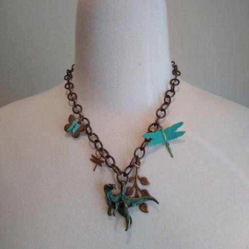 Handmade dinosaur necklace