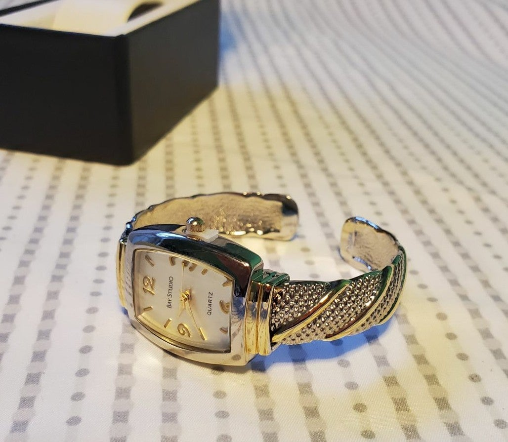 NWOT Silver & Gold Watch