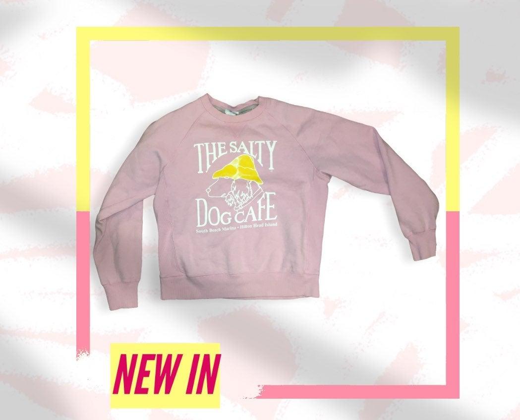 Vintage pink Salty dog cafe sweatshirt