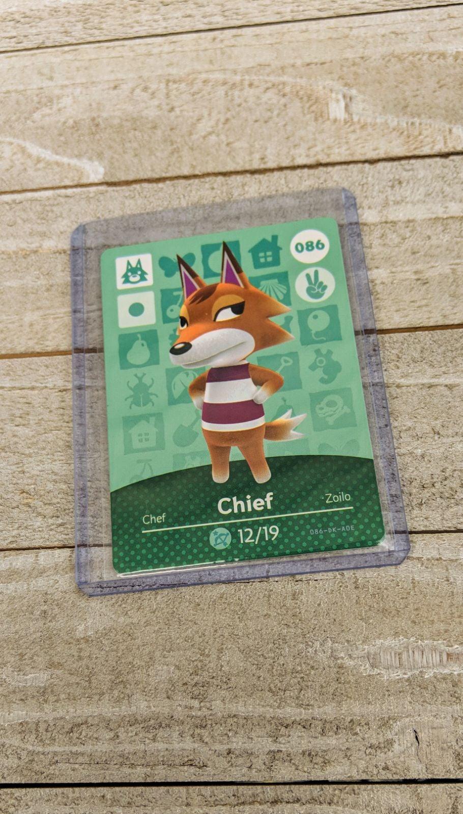 Animal Crossing Amiibo Card Chief
