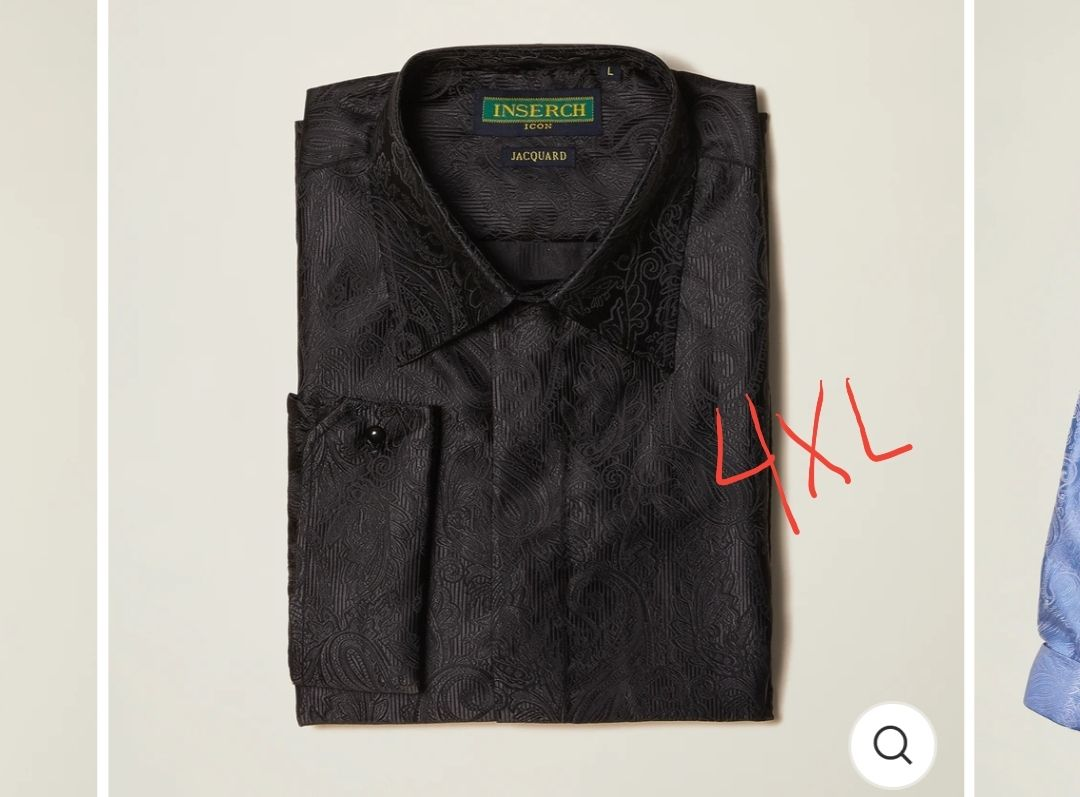 Inserch 4XL Jacquard Shirt for men