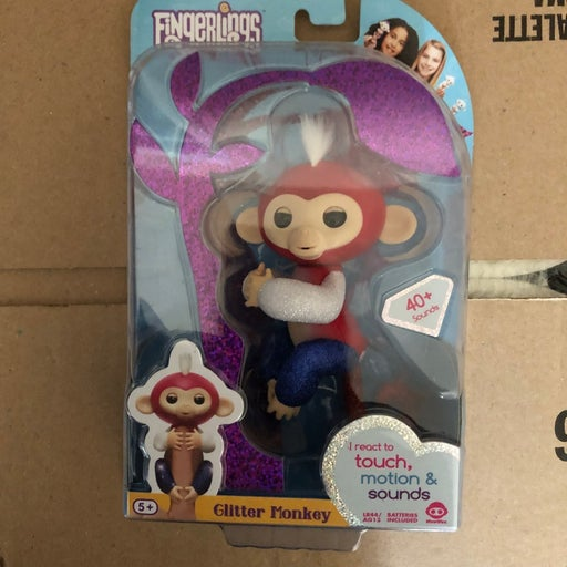 Fingerlings red white and blue monkey