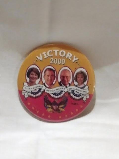ELECTION BUTTON 2000_BUSH/CHANEY