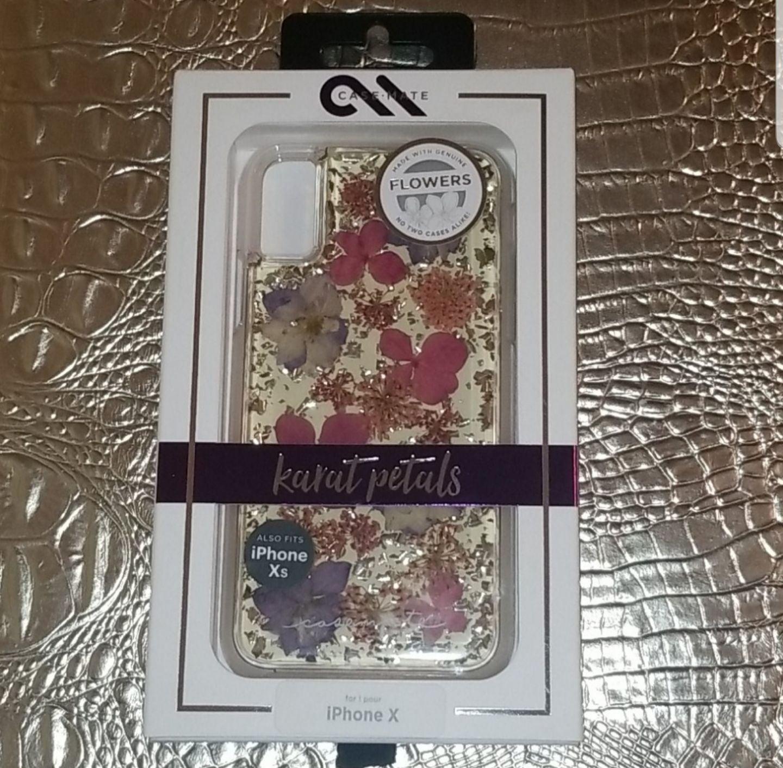 Karat petals iphone X & Xs phone case