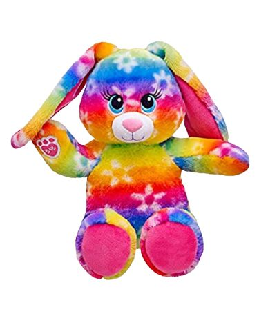 NWOT BAB rainbow Daisy bunny 16 plush