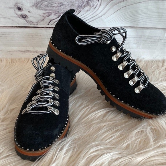 ASOS Flat Hiker Shoes or Boots, Black, 7