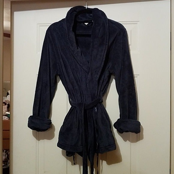 Adonna blue short robe size medium